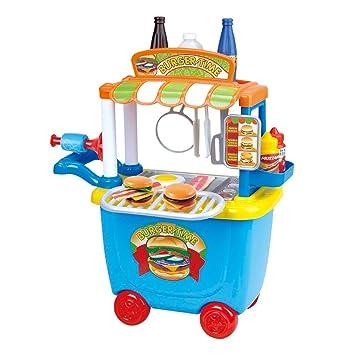 Playgo - Carrito Burguer Gourmet - 36 piezas (ColorBaby 44590): Amazon.es: Juguetes y juegos