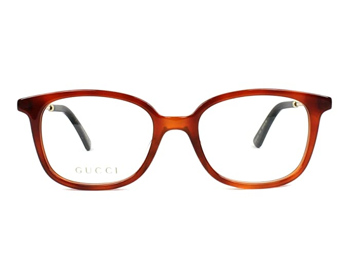 d023c9b607 Gucci Women s Prescription Eyewear Frame Brown marmor stil braun - gold 15   Amazon.co.uk  Clothing