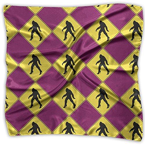 Bigfoot Crossing Sign Scarf Women's Square Scarf 100%Polyester Headscarf Headdress Fashion - Hi Style Malaysia