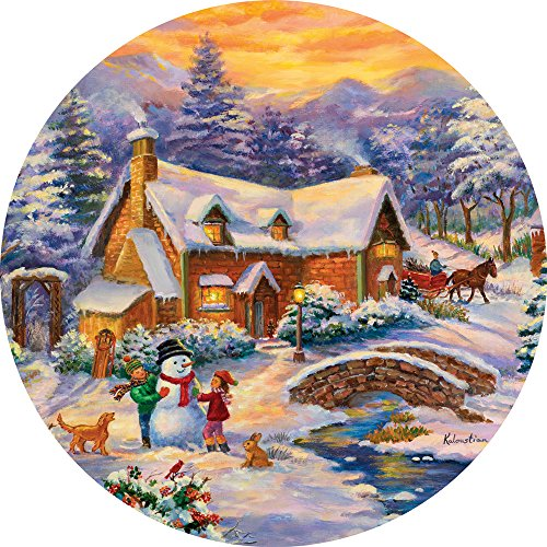 300 Piece Round Jigsaw Puzzle for Adults