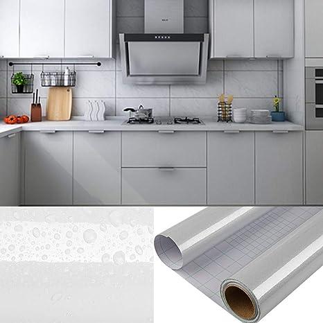 DTC - Papel pintado autoadhesivo para cocina (PVC), Gris, 2-Stück 6m*61cm: Amazon.es: Bricolaje y herramientas