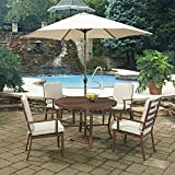 Home Styles 5701-3286 7 Piece Key West Round Outdoor Dining Set, Chocolate Brown
