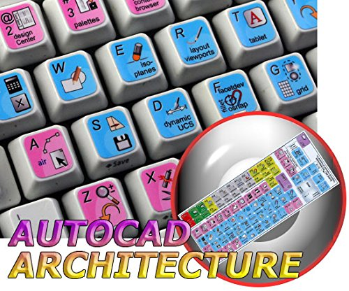NEW AUTODESK AUTOCAD ARCHITECTURE KEYBOARD STICKER FOR DESKTOP, LAPTOP AND NOTEBOOK