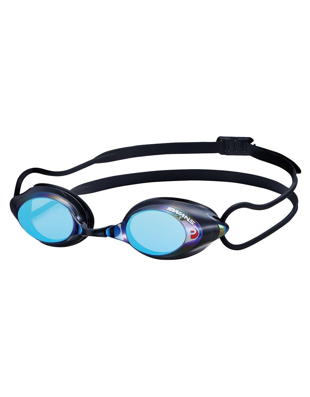0be6b79910 SWANS Mirrored Professional Swimming Goggles SRX-M (Smoke Blue)   Amazon.co.uk  Sports   Outdoors