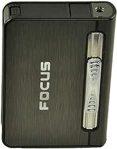 علبة لحفظ السجائر بها ولاعة غاز لون بنى رقم الصنف 676 - 1