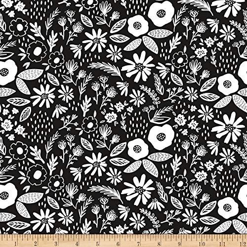 Riley Blake Designs Juniper Main Black Laminated, Fabric by the Yard