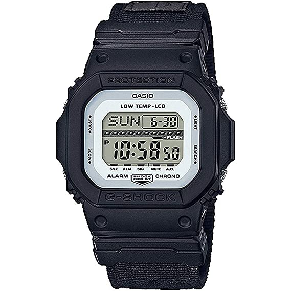 Casio Mens G-Shock GLS5600CL-1 Black Cloth Quartz Sport Watch