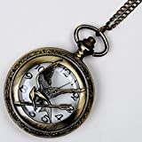 Tauren Antique Case Vintage Eagle Design Pocket Watch With Chain Quartz Movement