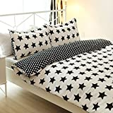 Vaulia Lightweight Microfiber Duvet Cover Sets, Tiny Star Printed Pattern, Reversible Color Design - Queen Size