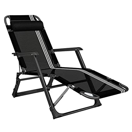 Surprising Amazon Com Black Zero Gravity Recliner Patio Lounger Customarchery Wood Chair Design Ideas Customarcherynet