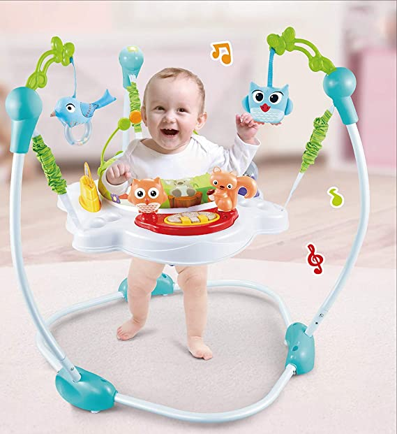 R for Rabbit Kangaroo Baby Jumper Bouncer - Multi Use Bouncing Jumper (Green)