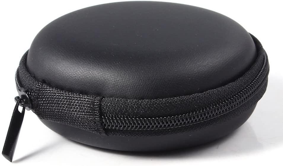 BLUECELL Hard Carrying Case Portable Protection Storage Bag For Earphone Headset Headphone Black