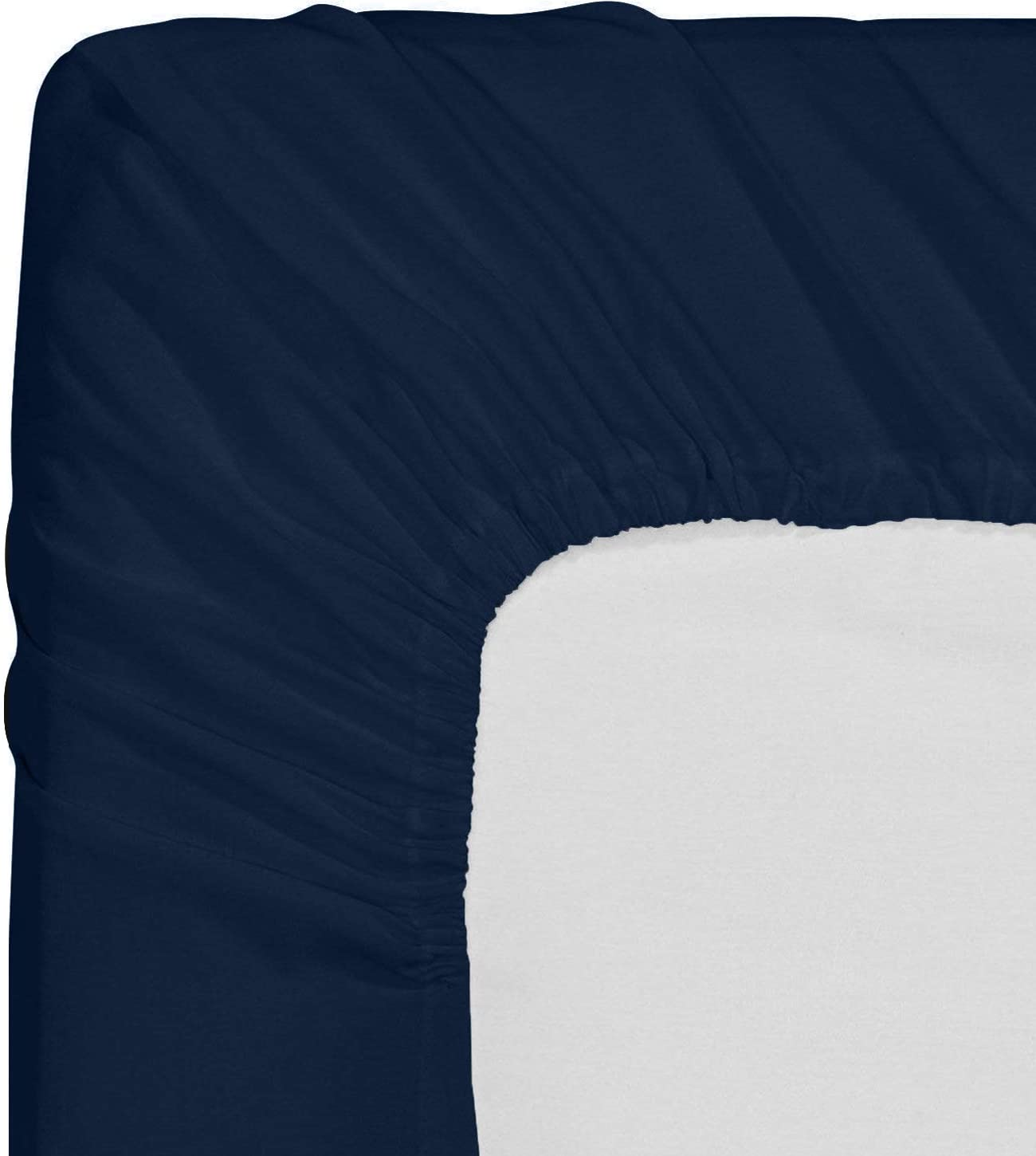 Deep Pockets Utopia Bedding Fitted Sheet Pack of 2 Bottom Sheets Twin, Grey Easy Care Soft Brushed Microfiber Shrinkage /& Fade Resistant