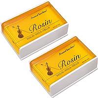 Rosin 2 pack Big size Rosin Natural Rosin for Violin Cello Viola Bows (Yellow)