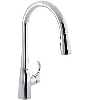 KOHLER 596-CP Simplice Touchless Kitchen Faucet