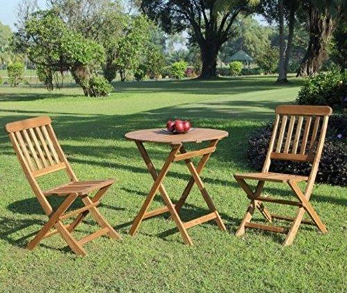 Garden Patio Furniture Catalan Café Table Set, Brown