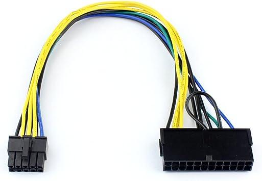 sans enveloppe BGNing 30cm 24P /à 10P 10p Cordon dalimentation Adaptateur 10 broches C/âble 24 broches /à 10 broches pour carte m/ère Lenovo