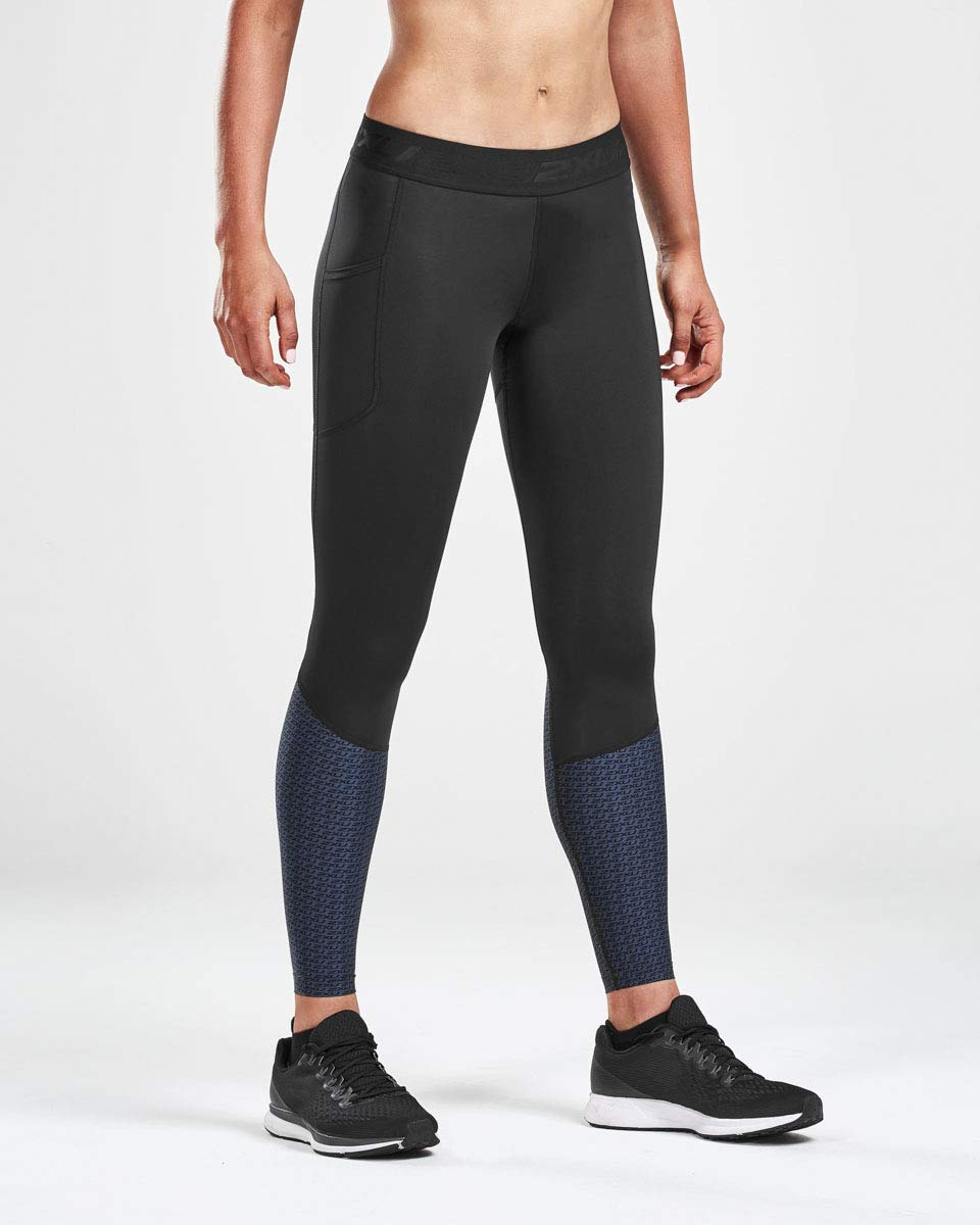 2XU Women's Accelerate Compression Tight Storage (Large, Outer Space)