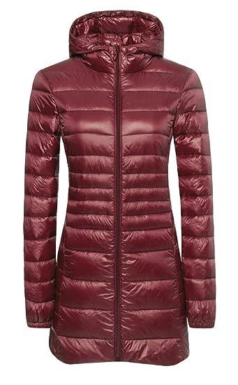 6d5012211 ilishop Women's Winter Outwear Light Coat Hooded Down Jacket