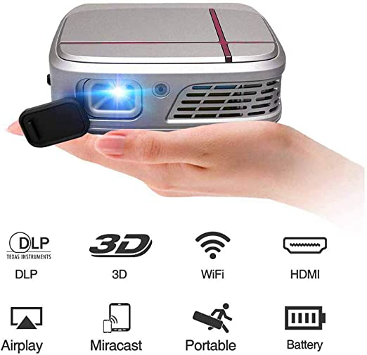 Proyector Mini proyector inalámbrico DLP 3D Wifi portátil LED 6200 ...