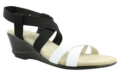 e2b8552547e Amazon.com | Vivanz Women's Candice Black/White Sandal 8 B (M) | Sandals
