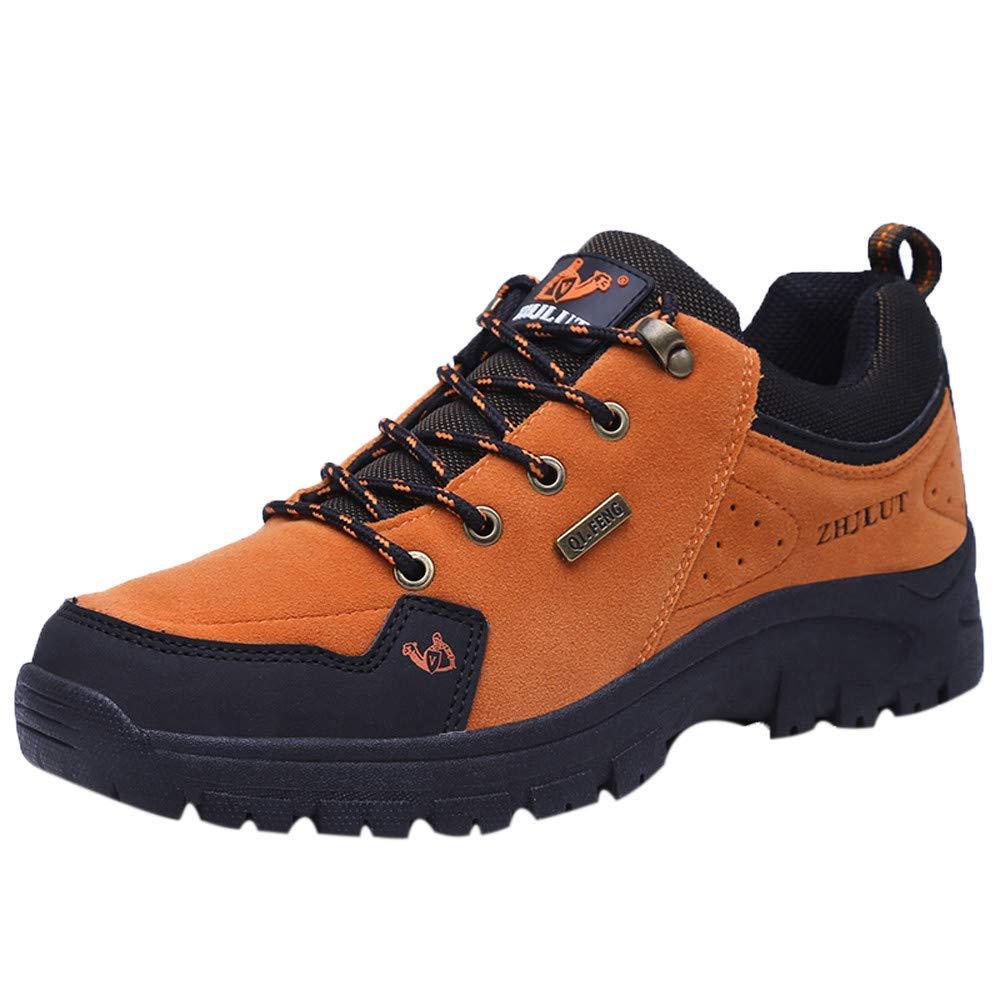Herren Wanderschuhe Kletterschuhe Outdoor Trekkingschuhe Berg Freizeitschuhe Turnschuhe Laufschuhe Laufschuhe Laufschuhe Stiefel (Farbe   Orange, Größe   EU 42.5 = UK 9) 236268