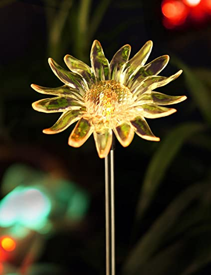 Bright zeal 45 life size sunflower led color changing solar stake bright zeal 45quot life size sunflower led color changing solar stake lights outdoor workwithnaturefo