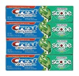 Beauty : Crest Complete Multi-benefit Whitening + Scope Minty Fresh Flavor Toothpaste 2.7 Oz (Pack of 4)