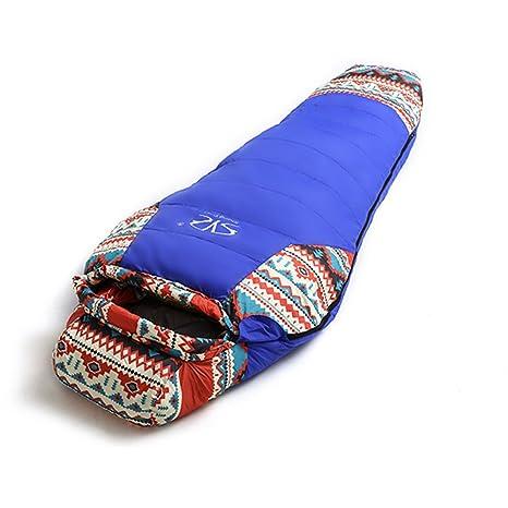 Saco de dormir al aire libre de invierno, adulto más terciopelo acolchado bolsa de dormir