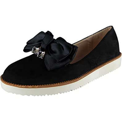 ad3d1615b9b SAUTE STYLES Ladies Womens Flats Casual Slip on Tassel Loafers School  Office Pumps Shoes Size 3-8  Amazon.co.uk  Shoes   Bags