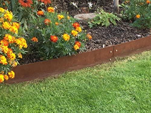 Cortadora de césped Acero Corten Acero 170 cm x 15 cm - Juego de 6 ...
