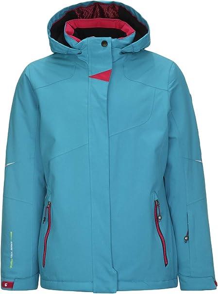 Killtec Winterjacke Skijacke Jungen Mädchen Wasserdicht Schneefang innen blau