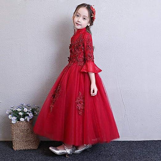 CYDKZMEPA Vestido de Novia Estilo Chino para niña de Flores ...