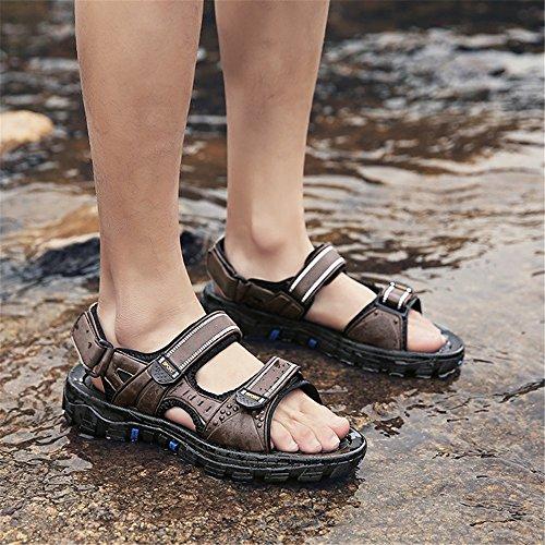 Eu Stick Al Transpirables Magic Libre Marrón Para 3 Shoe 1 color Sandalia Aire Hombre Tamaño Beach 41 Marrón Sandalias EqwAgnYT