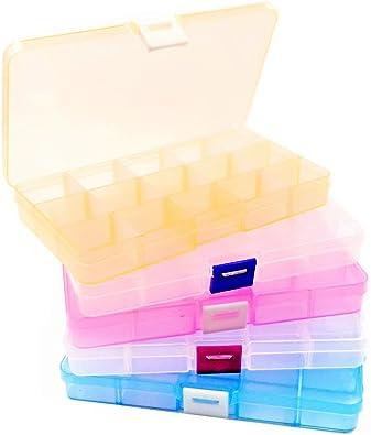 JZK 5 x Ajustable Caja de Almacenamiento Caja plastico ...