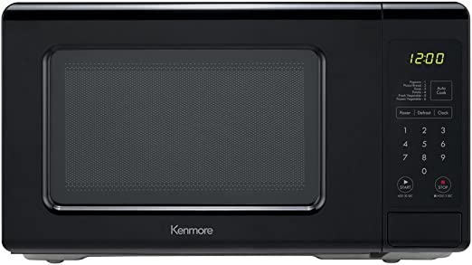 Kenmore Elite Black 70719 Countertop Microwave, 0.7 cu. ft
