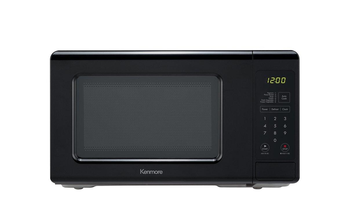 Kenmore 70719 Compact Countertop Microwave, 0.7 cu. ft. , Black