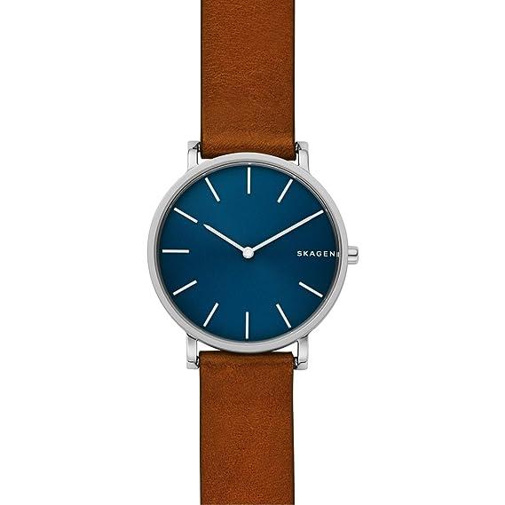 Skagen Reloj Analogico para Hombre de Cuarzo con Correa en Cuero SKW6446