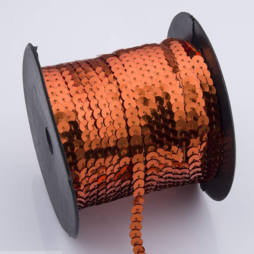 Orange FADDR Rouleau de Ruban /à Paillettes Plat pour d/écoration de Collier 90m Robe 90 m