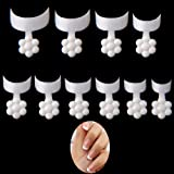 MISMXC 500 Pcs French Short Style Acrylic False Nail Art Tips Finger Sticker Extension Tool,10 Sizes