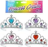 Kangaroos Princess Tiara Set; (4 Pieces), Princess Crown Assortment