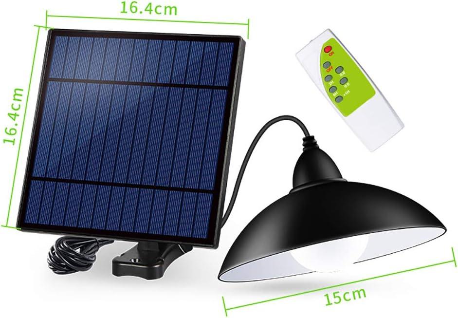 OurLeeme Lumi/ère solaire ext/érieure lampe suspendue /étanche r/étro avec 12LED avec abat-jour ampoule solaire /à LED avec cordon 3M t/él/écommande pour jardin