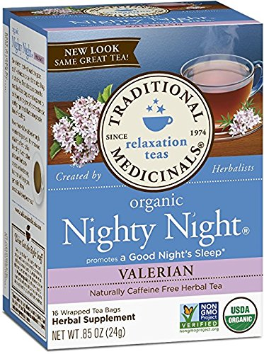 Traditional Medicinals Caffeine Free Herbal Tea Bags, Nighty Night 0.85 oz (Pack of ()