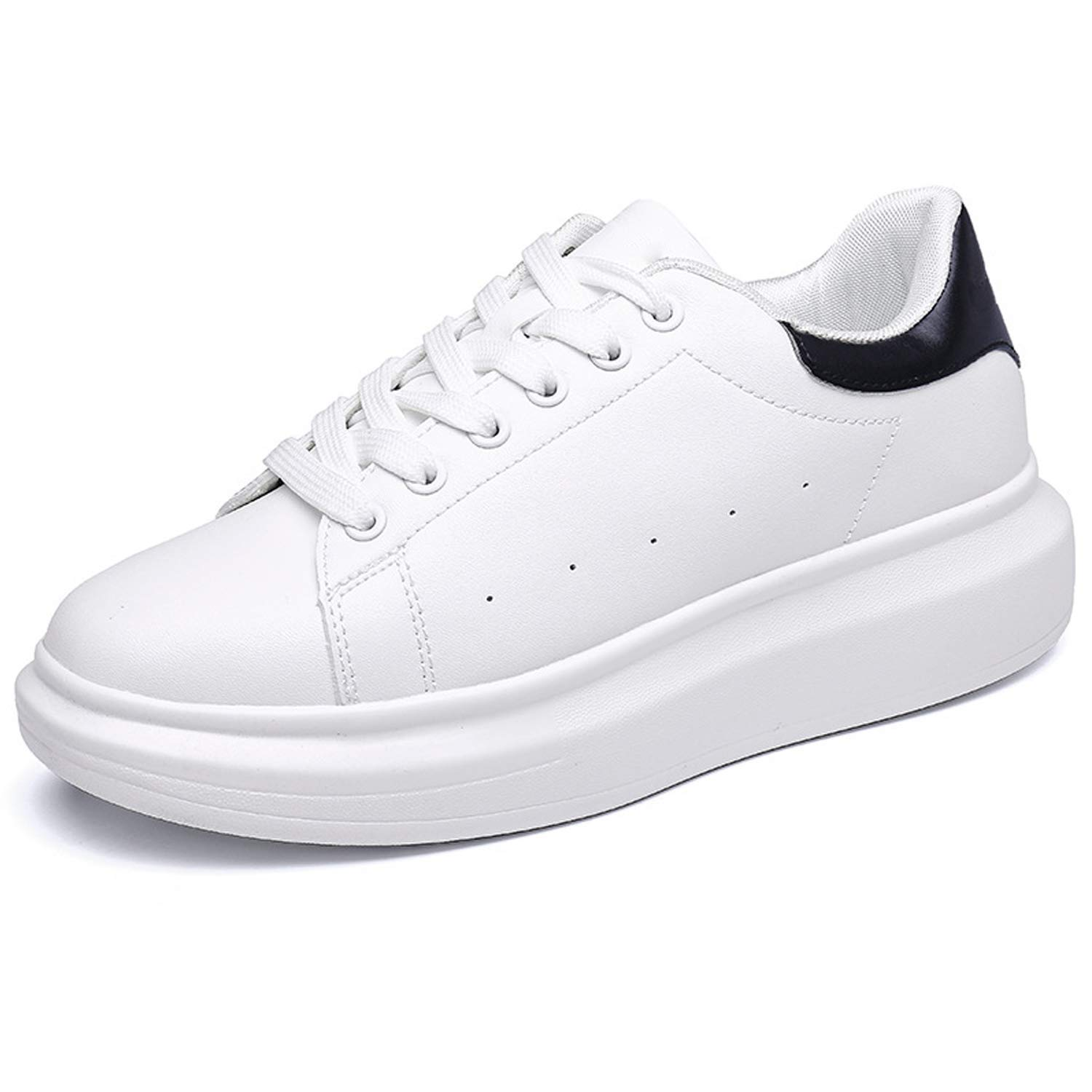 PrasKing White Canvas Casual Sneaker Shoes