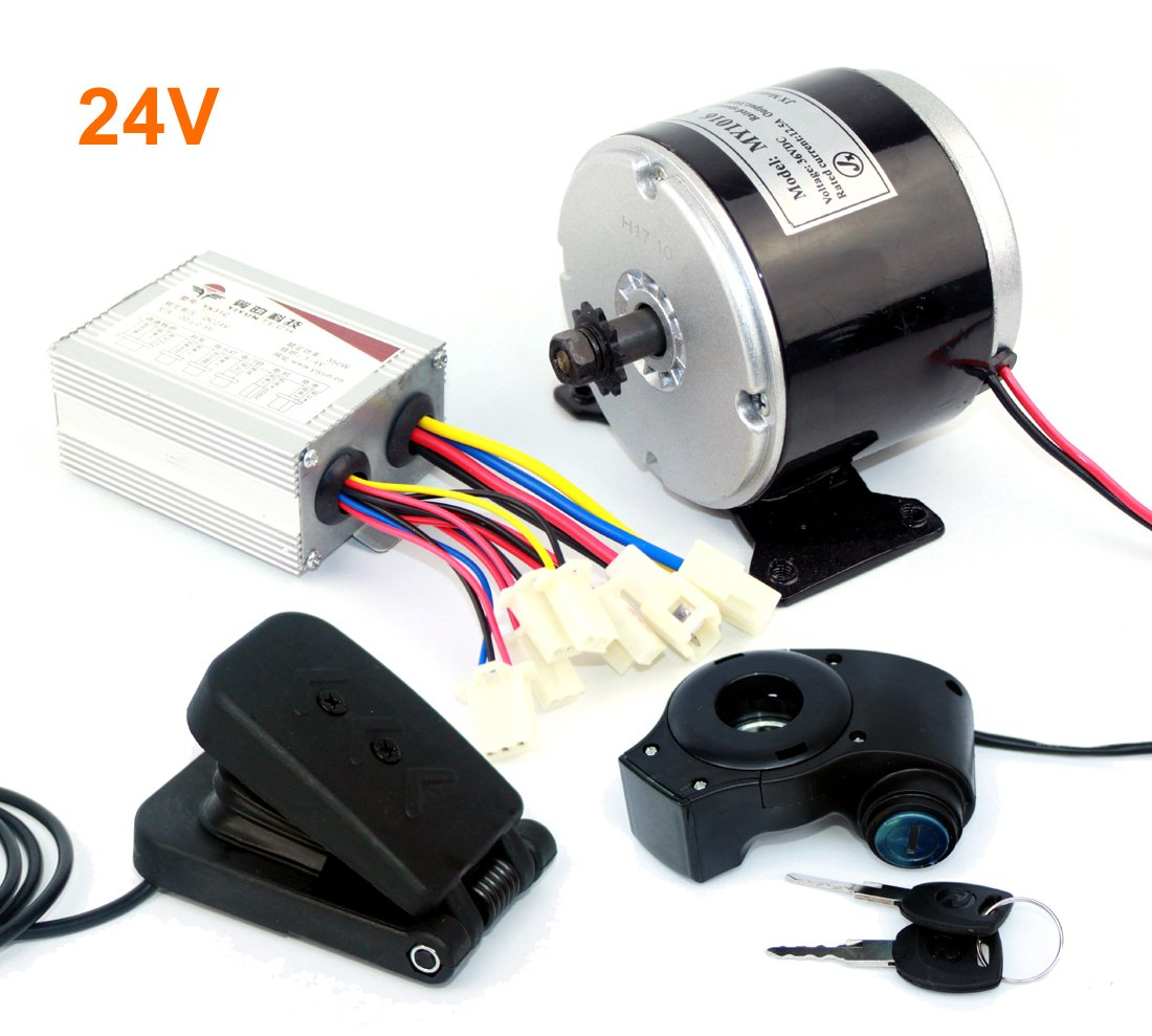 L Faster 24v 36v 350w Electric Dc Motor Skateboard Diy Wiring Diagram Kit