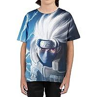 Camisetas De Naruto Uzumaki 3D PatróN NiñOs Impreso Anime Camisetas De Manga Corta Ropa De NiñOs Camisetas