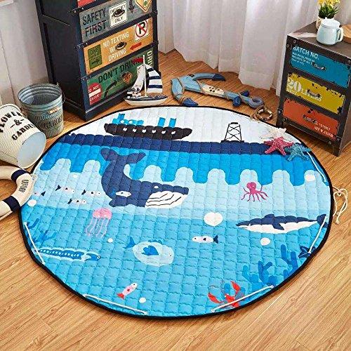 Play Mat & Organizer for Babies Toddlers and Kids (Ocean Life) (Mat Baby Ocean Play)