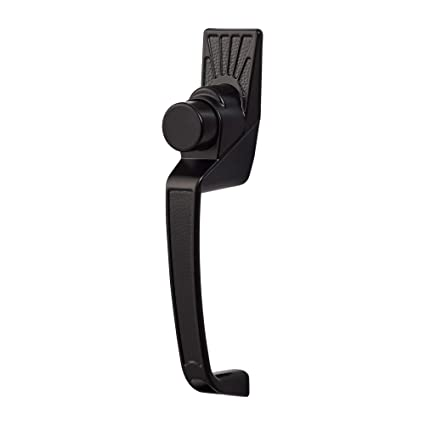 Ideal Security SK11BL Classic Push-Button Handle Set for Storm and Screen  Doors Black