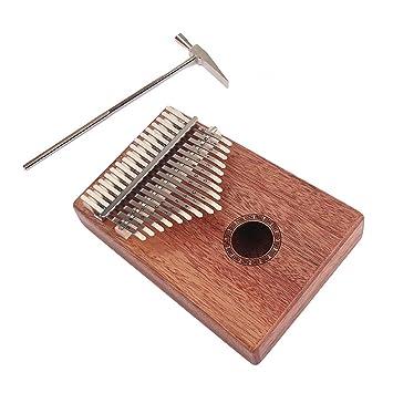 Healifty 17 Teclados Caoba Kalimba con Martillo Pulgar Africano Piano Teclado de Percusión Instrumentos Musicales Regalo de Música: Amazon.es: Instrumentos ...