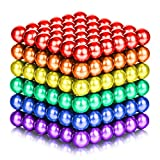 Toys : ATESSON Magnetic Sculpture Balls Intellectual Office Toys Anxiety Stress Relief Killing Time Puzzle Creative Educational Toys for Kids Adults (6 Colors,5mm)